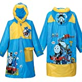 Children's Cartoon Raincoat Poncho Bag KT Cat Environmental Inflatable Hat Thickened,Thomas,XXXL/Height:135-145cm/fit 10-12T