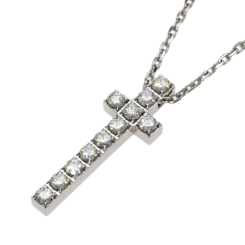 [ピアジェ]ライムライト ダイヤモンド クロス ネックレス K18ホワイトゴールド レディース (中古) B079YB2TJB