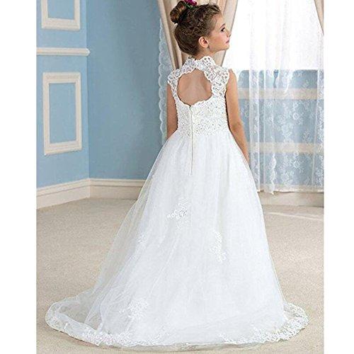 Amazon.com: Kalos Dress Shop 2018 White Flower Girl Dresses For ...