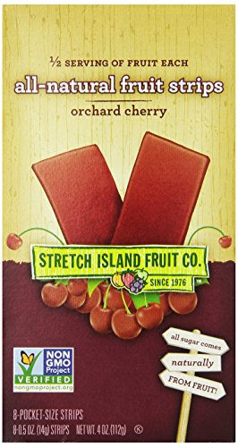 Stretch Island All Natural Fruit Strips, Cherry, 8-Count ...