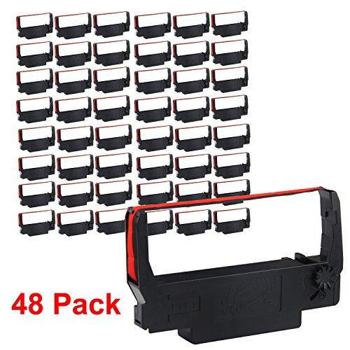 myCartridge ERC30 ERC 30 34 38 B/R Compatible Ribbon Cartridge for use in ERC38 NK506 (Black Red, 48-Pack)
