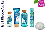 Cheap Bath & Body Works FROSTED COCONUT SNOWBALL Deluxe Gift Set Lotion ~ Cream ~ Fragrance Mist ~ Shower Gel + & FREE Shower Sponge Lot of 5
