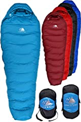 The Hyke & Byke Snowmass Down Sleeping Bag is the perfect choice for backpacking in cold weather. The Snowmass is extremely warm and feather light. Keywords to Help Customers Find Us on Amazon: hike bike warehouse deals 20 0 degree womens...