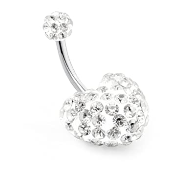 Fashion Jewelry *neuf* Piercing Nombril Attrape Rêves Doré Strass Rose En Acier Chirurgical