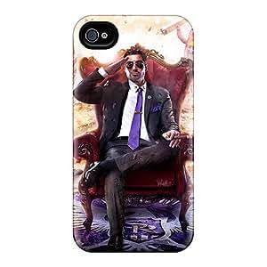 NpF4078tIha Tpu Case Skin Protector For Iphone 4/4s Saints Row Iv Artwork With Nice Appearance
