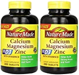 Nature Made Calcium Magnesium Zinc Tablets with Vitamin D, 300 Count (Pack of 2) Review