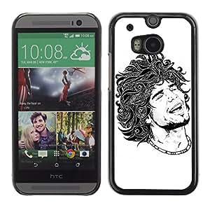 CaseCaptain Carcasa Funda Case - HTC One M8 / Cool Tattoo Illustration /
