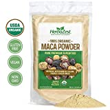 Maca Powder Organic - Peruvian Premium Blend of Yellow, Purple & Black Maca - Vegan & USDA Certified - 16oz (454g) - Perfect for Smoothies, Juices, Baking, Yogurt & Cereal