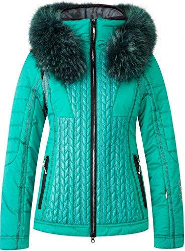 Sportalm cricket sie 10 parka w/fur on hood deep green by SPORTALM