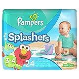 Pampers - Splashers, Pañales Etapa 3, Paquete de 24 (empaques aleatorios)