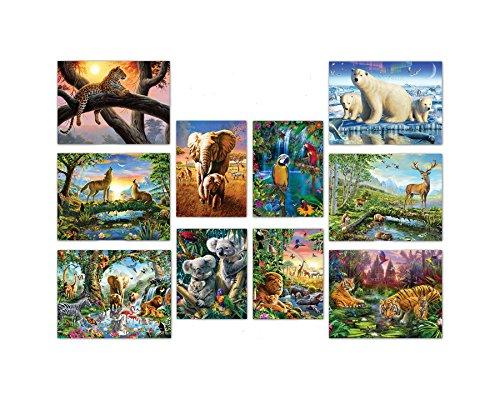 (Ceaco 10-in-1 Multi Pack Animals Puzzle (100Piece))