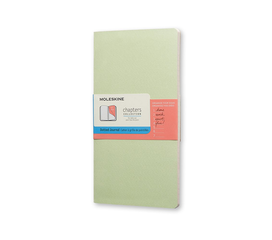Moleskine Chapters Journal, Slim Medium, Dotted, Mist Green,