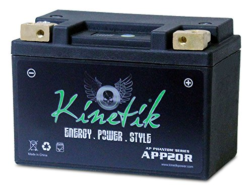LiFePO4 12V 20-24ah Battery for Kawasaki 1500 JT1500B, C, 250X, 2007-2012 by Kinetik