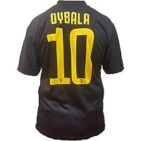 Juventus Terza Maglia Nera Dybala Numero 10 Replica Prodotto Ufficiale 2018/19 Autorizzato JJFC Bambino (Taglie 2 4 6 8 10 12) Adulto (S M L XL)