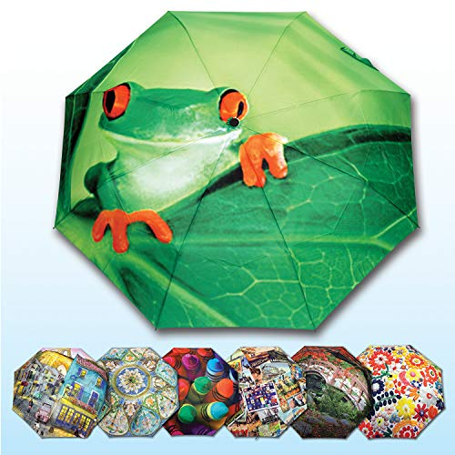 - Springbok Eye Spy Compact Travel Size Full Size Canopy Umbrella with Auto Open/Close Button