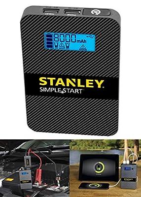 Stanley POWERTOGO 8,000 mAh Lithium Jump Starter Portable Power Bank and LED Light