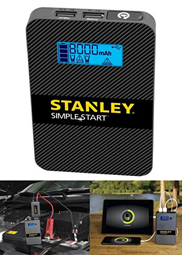 Stanley POWERTOGO 8,000 mAh Lithium Jump Starter Portable Power Bank and LED ()