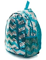 Chevron Sequins Backpack/backpack Aqua