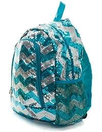 Chevron Sequins Backpack/backpack Aqua