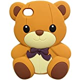 iPod Touch 4 Case, MagicMobile® Impact Resistant Shockproof Protective Case for iPod Touch 4 / 4th Soft Rubber Silicone Skin [3D Teddy Bear Pattern] Design Amor Case Cover for iPod Touch 4th Genaration