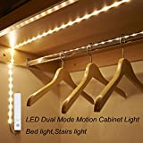 Kitchen Cabinets Colors Amagle LED Dual Mode Motion Night Light, Flexible LED Strip with Motion Sensor Bed Light for Bedroom Cabinet, Warm White (3000K) (4 AAA Batteries Operated, Not Included)