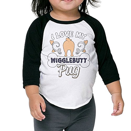 Ilove My Wigglebutt Pug Unisex Kids 3/4 Sleeves Raglan T Shirts Child Youth Slim Fit Sports Uniforms 5-6 - Sunglasses Witcher 3