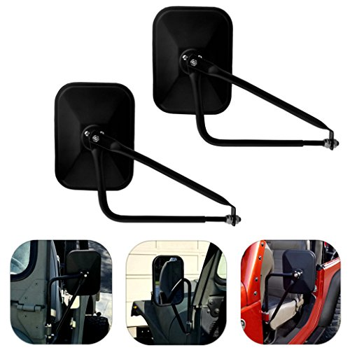 Fits Jeep Wrangler Doors off Mirrors for JK JKU JL 1997-2018 Side Rear View (Jeep Wrangler Side View Mirrors)