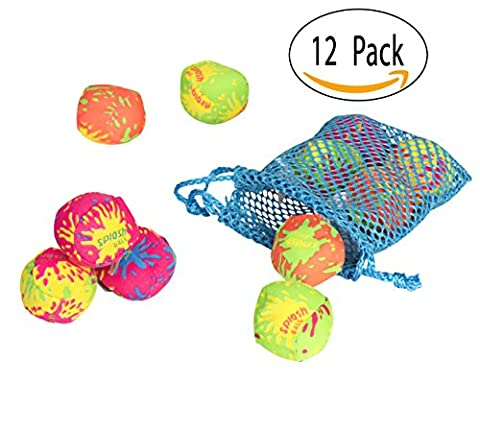Big Mo's Toys Pool Water Splash Balls With A Neon Drawstring Mesh Bag - Water Bomb Ball Beach Pool Party Toy, Pack of (Laughing Dog Ball)