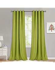 "NICETOWN 1 Pair Solid Grommet Blackout Curtains (52"" Wide)"