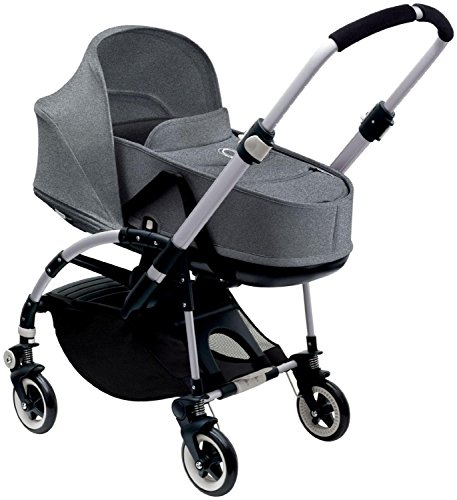 Bugaboo Bee3 Complete with Aluminum Base and Grey Melange Seat