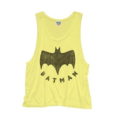 ac7d9581ab42f Junk Food Batman Logo Juniors Neon Yellow Tank Top (Juniors X-Large)   Amazon.co.uk  Clothing