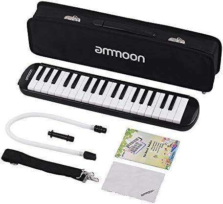 [해외]Ammoon 건반 하 모니카 37 열쇠 피아노 스타일 마우스 피스 클리닝 크로스 캐리 케이스와 초보자를 위한 음악 선물 Melodica Pianica / ammoon Keyboard Harmonica 37 Key Piano Style Mouthpiece Cleaning With Cross Carry Case Music Gift melodi...
