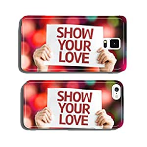 Show Your Love card with colorful background cell phone cover case Samsung S6