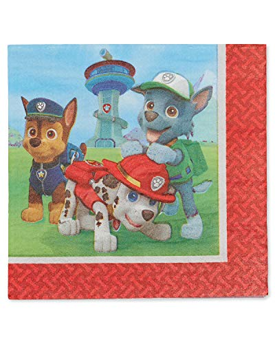 American Greetings Paw Patrol Lunch Napkins, 48-Count ()