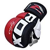RDX Maya Hide Leather Grappling MMA Gloves Cage UFC Fighting Sparring Glove Training T6