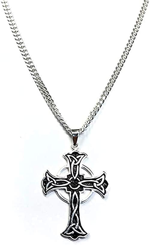 Chain Jewelry Cross Pendant Necklace for Men fo ZC Celtic -Stainless Steel
