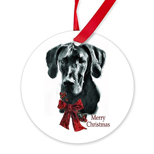 CafePress Great Dane Christmas Round Christmas Ornament
