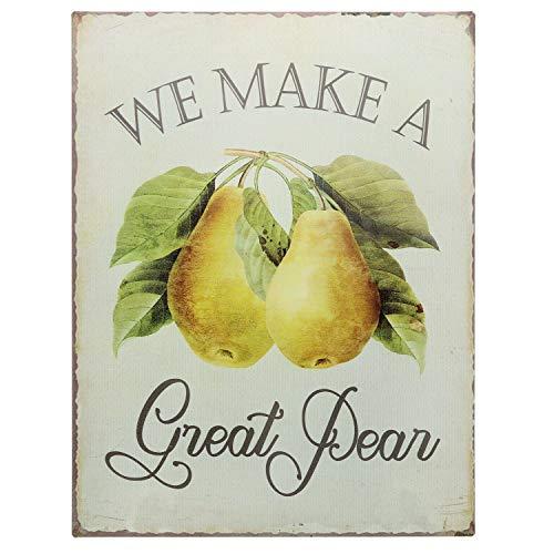 Barnyard Designs We Make A Great Pear Funny Retro Vintage Tin Bar Sign Country Home Decor 13