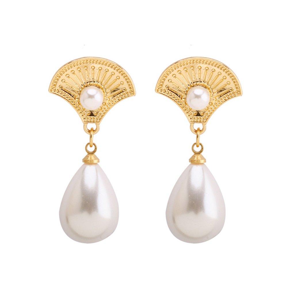 Fan White Stones Earrings 2019 New Hot Style Earrings for Girls//Jewelry