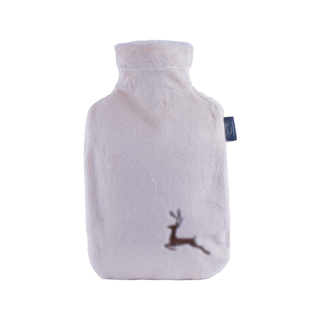 CFJKN Hot Water Bottle with Cover, Hot Water Bottles 2 Liter Classic Rubber Hot Water Bag Great for Pain Relief,White_32x20cm/13x8inch by CFJKN