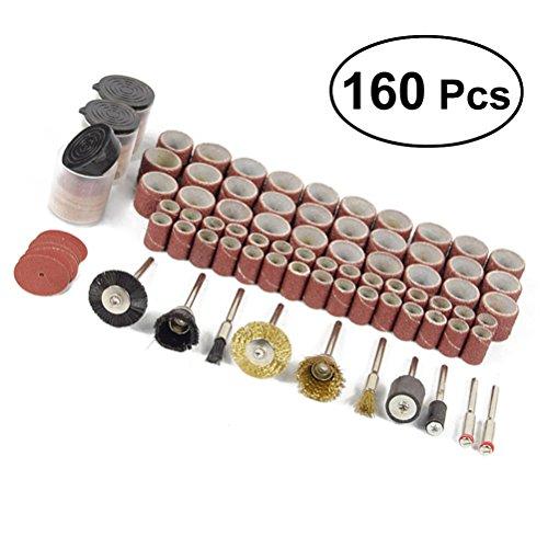 OUNONA 160 unids cepillo de rueda de alambre conjunto accesorios de pulido abrasivo para herramientas rotativas Dremel