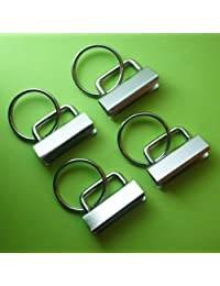 25 Sets - Key Fob Hardware with Split Ring - 1.25 Inch Wide by Simply Sew
