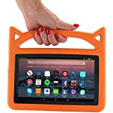 Fire 7 2017 Case, Fire 7 Tablet Case, Fire 7 Kids Case, Lmaytech Kids Shock Proof Protective Cover Case for Amazon Fire 7 Tablet (Compatible with 5th 2015 / 7th 2017) (Fire 7, orange)
