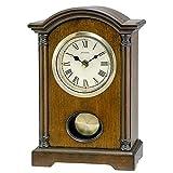 Bulova Dalton Chiming Pendulum Table Clock - Walnut