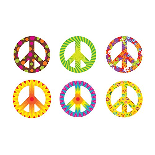 TREND enterprises, Inc. Peace Signs Patterns Classic Accents Variety Pack, 36 ct ()