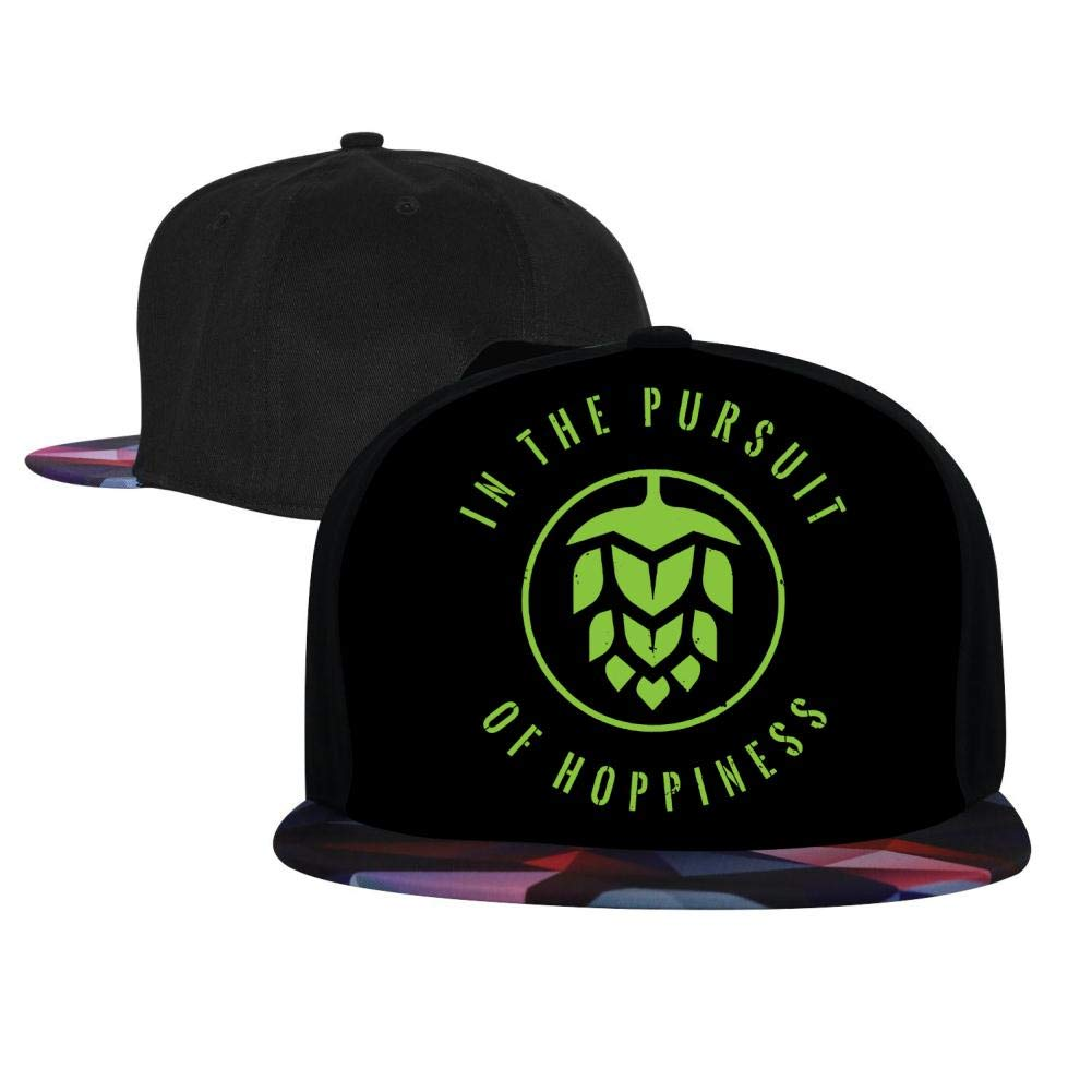 Adjustable Hip Hop Flat-Mouthed Baseball Caps in The Pursuit of Hoppiness Mens and Womens Trucker Hats