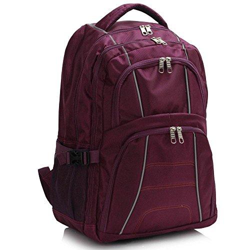 TrendStar - Bolso mochila  de piel sintética para mujer beige G - Beige E - Purple