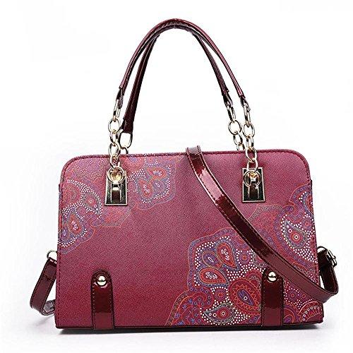 Leather Bag Female Ec New Pu Bandoliers Handba Bags Print Meaeo Ladies Women Woman ZxqEOUOn1