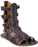 bed stu Women's Aurelia Gladiator Sandal, Black Driftwood, 9 M US
