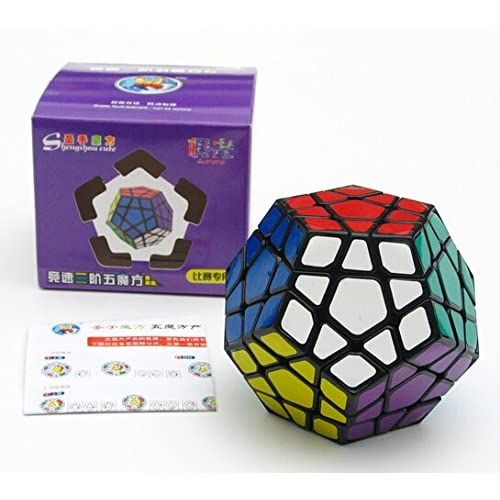 CuberSpeed ShengShou Aurora Megaminx black Magic cube Aurora Megaminx speed cube puzzle (NEW)